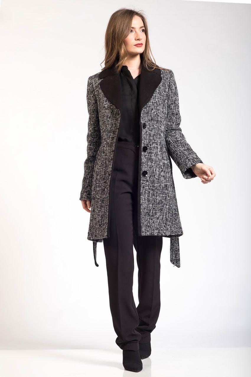 Γυναικεία παλτοζάκετα κομποζέ
