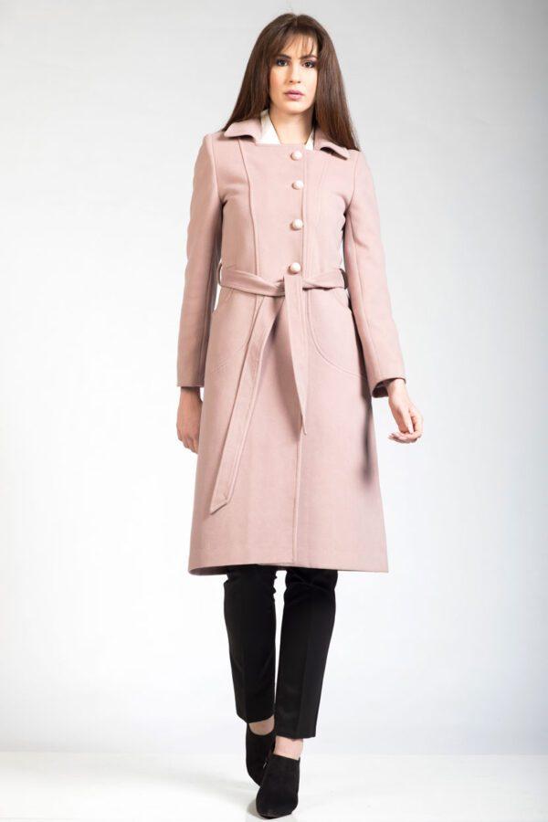 Γυναικείο παλτό σομόν