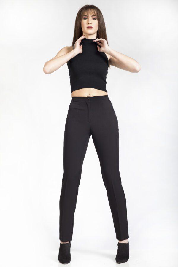 Γυναικείο μαύρο παντελόνι εφαρμοστό