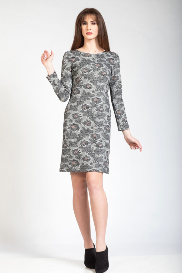 Φόρεμα μακρυμάνικο εμπριμέ