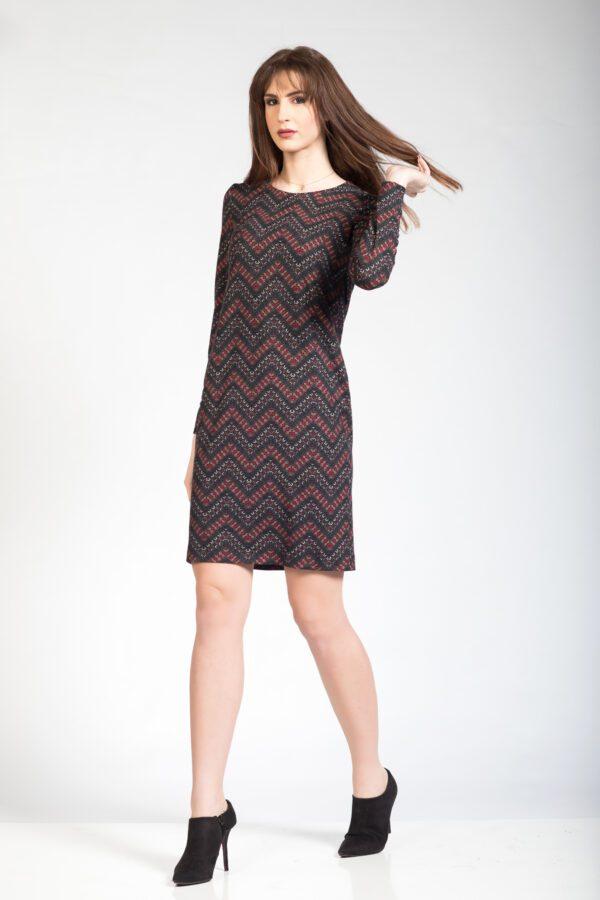 Αμπιγιέ φόρεμα μακρυμάνικο