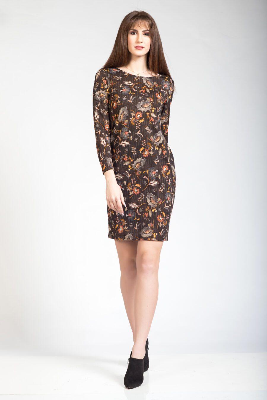 Αμπιγιέ φόρεμα μισόνι μακρυμάνικο