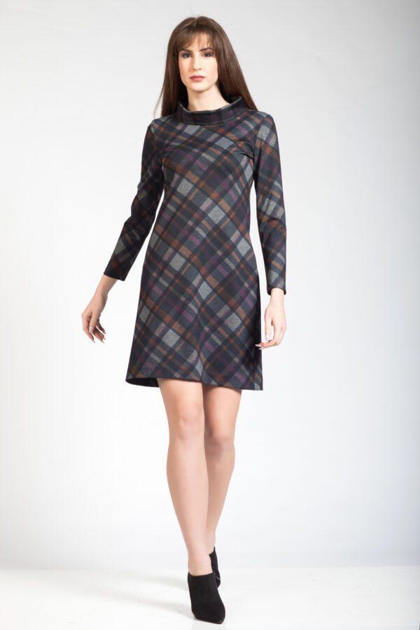 Φόρεμα καρό μακρυμάνικο