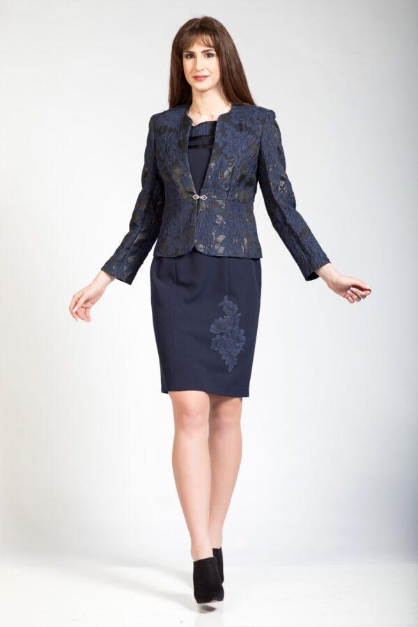 Αμπιγιέ σύνολο μπολερό φόρεμα - μπλε