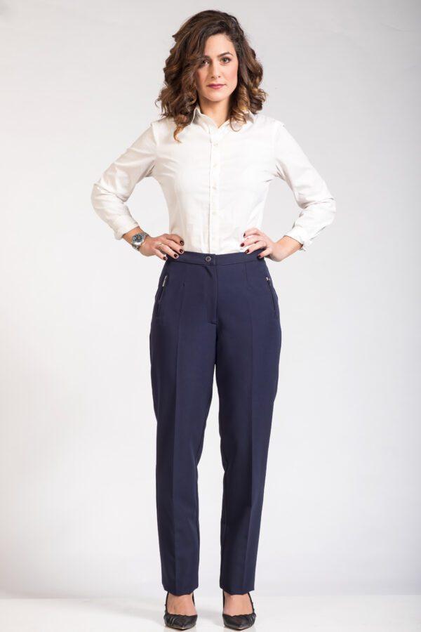 Γυναικείο μπλε παντελόνι