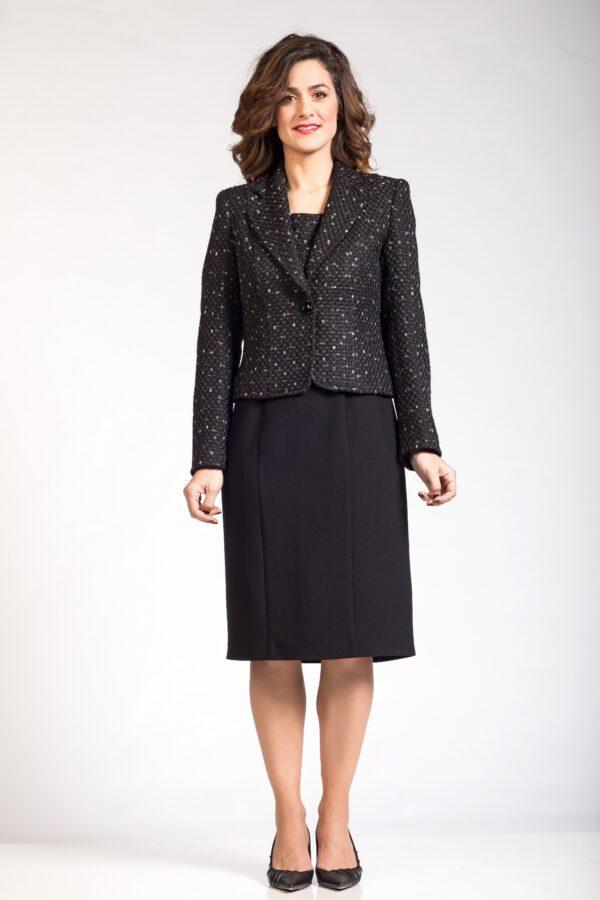 Σύνολο μπολερό φόρεμα - μαύρο