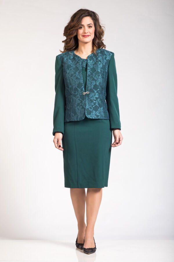 Αμπιγιέ μπολερό φόρεμα με δαντέλα πράσινο