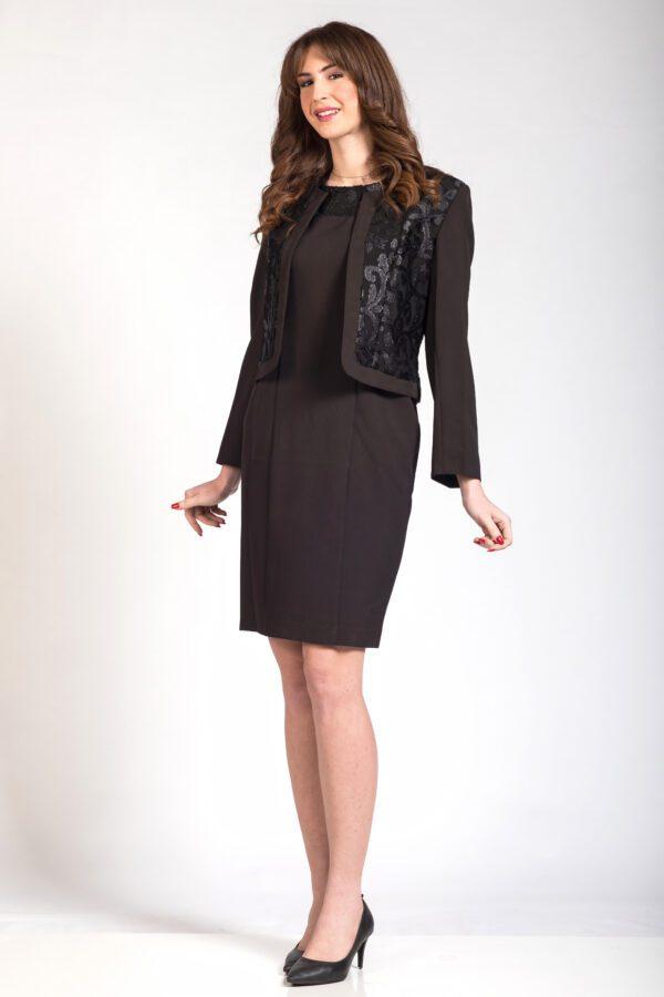 Σύνολο μπολερό φόρεμα μαύρο