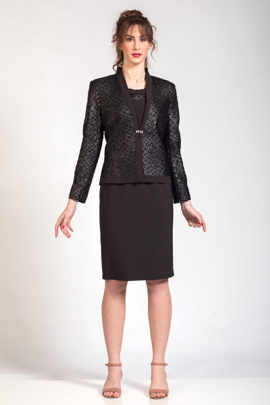 Μαύρο σύνολο μπολερό φόρεμα