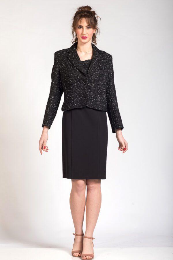 Χειμερινό σακάκι φόρεμα μαύρο